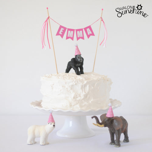 Toys on Cakes:  Party Animals!