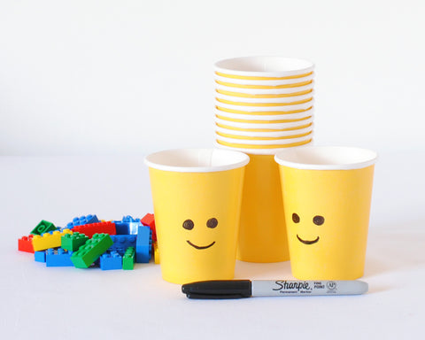 Lego Birthday Party - DIY Cups