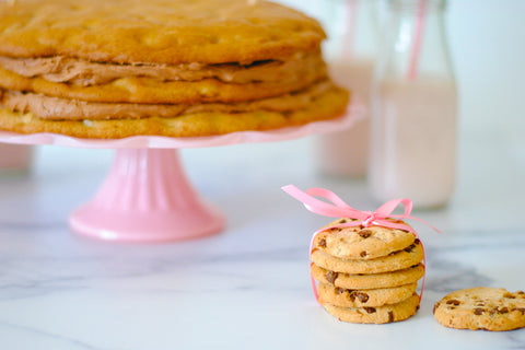 stacked cookies for cookie theme party