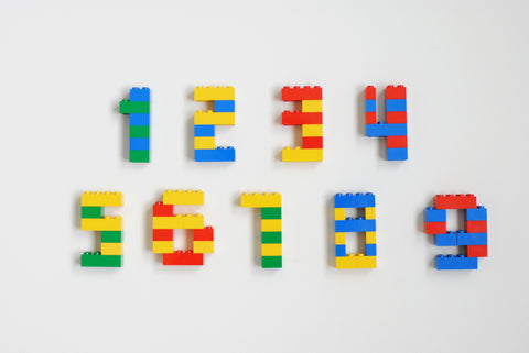 Lego Numbers for Lego Birthday Cake Decoration