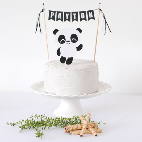 Panda Cake Topper for Panda Birthday Party