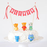 Daniel Tiger Birthday Cake Idea - Toys on Cakes with personalized Name cake topper
