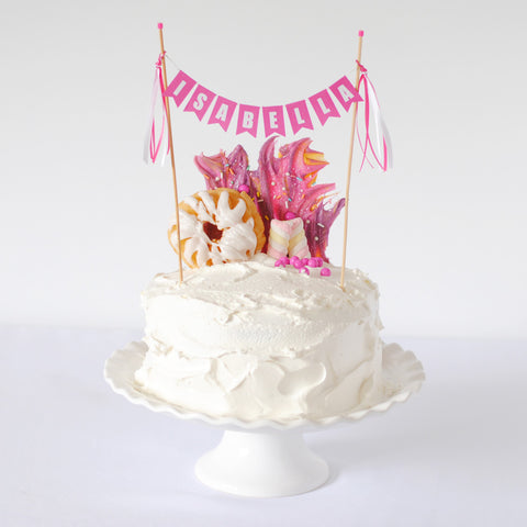 Unicorn Cake with cake topper
