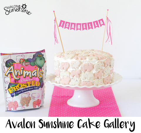 Avalon Sunshine Cake Toppers make it so easy to decorate any cake...homemade or store bought, make it beautiful and personalized