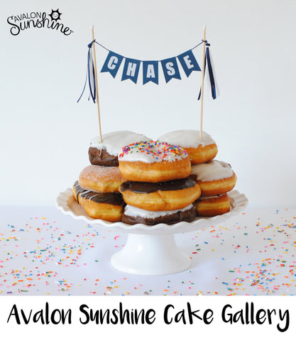 Donut Cake Topper for birthday