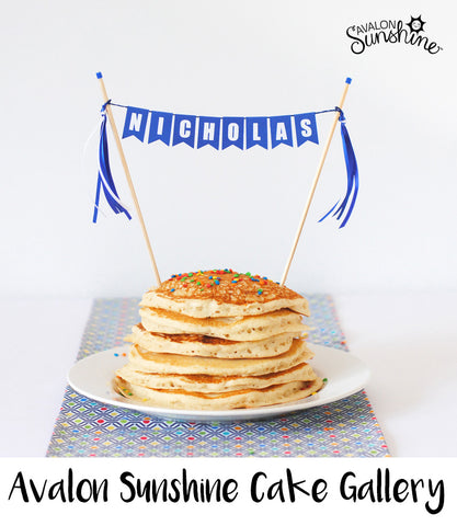 Avalon Sunshine Cake Toppers make it so easy to decorate any cake...home made or store bought, make it beautiful and personalized