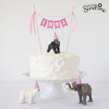 Party Animal Birthday Cake Idea - Toys on Cakes with personalized name cake topper