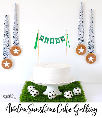 Soccer Cake topper for kids birthday