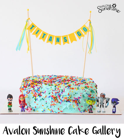 Avalon Sunshine Cake Toppers make it so easy to decorate any cake...homemade or store bought; make it beautiful and personalized