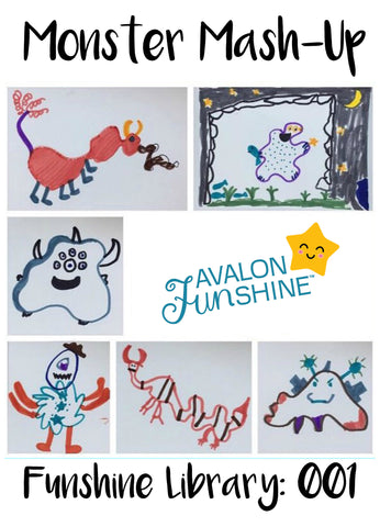 Funshine Library: Easy and fun activity you can do with your kids that only needs crayons and paper!