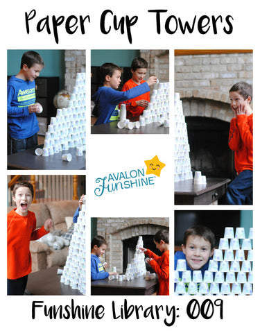 Funshine Library Paper Cup Towers
