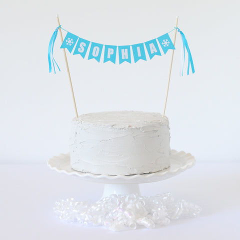 Personalized Name Snowflake Cake Topper