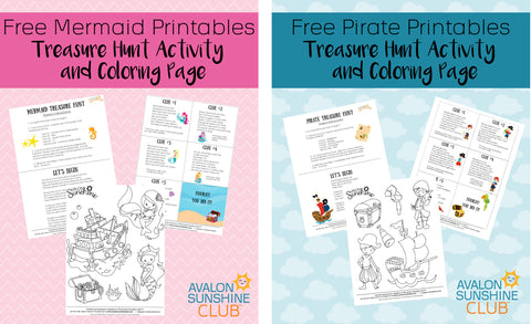 mermaid and pirate printable images
