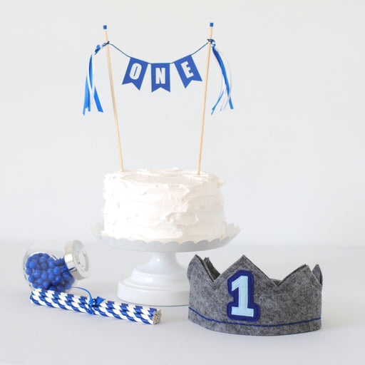 1st Birthday Set - Royal Blue