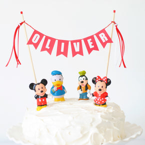 Red Name Cake Topper