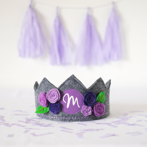 Letter & Flower Crown for Girls
