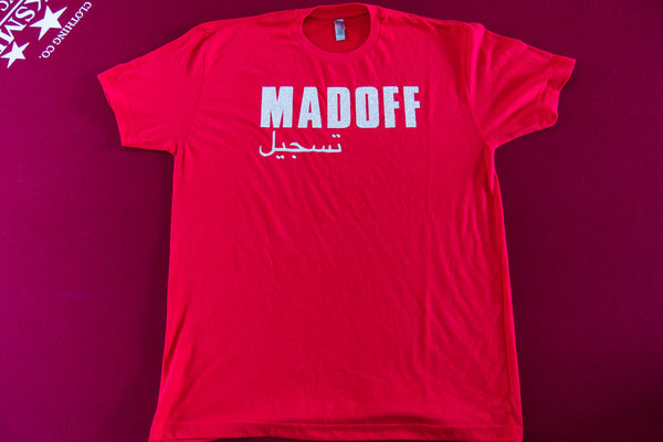 Madoff Short Sleeve Womens Tee [Red/Silver]