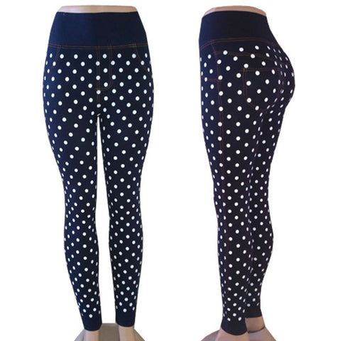 Blue Polka Dot Jeggings