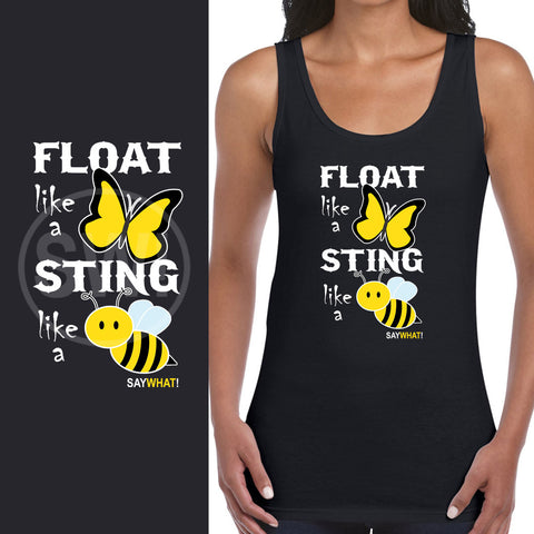 SayWhat! Float like a butterfly Ladies Vest