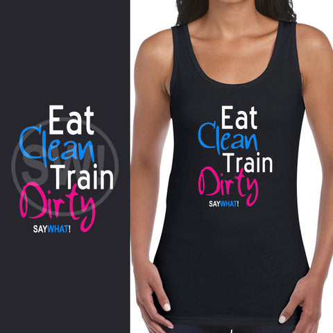 SayWhat! Eat Clean Ladies Vest