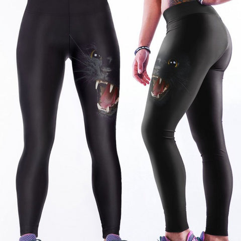 Midnight Growl Yoga Leggings