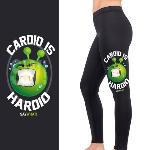 SayWhat! Cardio is Hardio Full Length Leggings