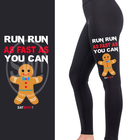 SayWhat! Gingerbread Man Full Length Leggings
