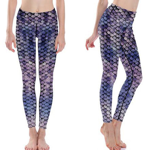 Scaled Up Purple Leggings