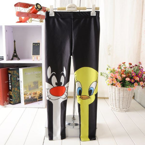 Sylvester And Tweety Mysteries Kids Leggings