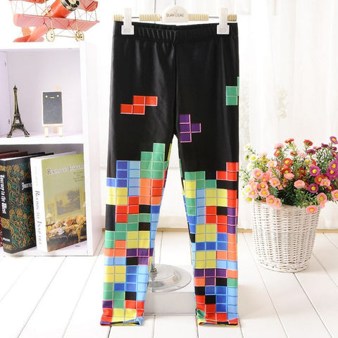 Tiny Tetris Kids Leggings