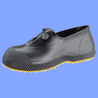 11003XS - EXTRA SMALL BLACK PVC OVERSHOES