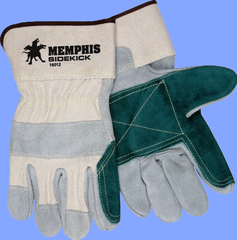 16012XL - EXTRA LARGE SIDE KICK DOUBLE PALM LEATHER WELDING GLOVES