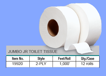 19920 - 2 PLY JUMBO JR TOILET TISSUE