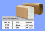 21250 - WHITE MULTIFOLD TOWELS