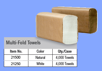 21500 - BROWN MULTIFOLD TOWELS