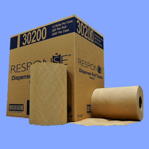 "30200 - BROWN ROLL TOWELS - 7 7/8"" X 350'"