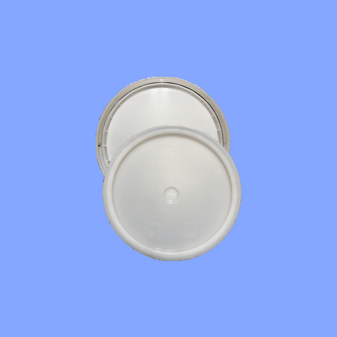 345WHT - WHITE PLASTIC LID FOR 3, 4, 5 GALLON PAILS