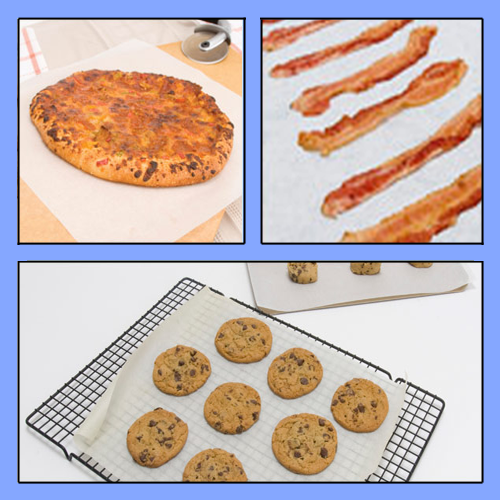 "36012 - 12"" X 12"" SILICONE PARCHMENT BAKING SHEETS"