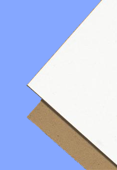 "4048CB - 40"" X 48"" X .022"" WHITE / BROWN 22 POINT CHIPBOARD"