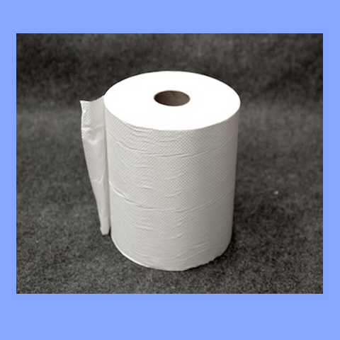 "40624 - WHITE ROLL TOWELS 10"" X 800'"