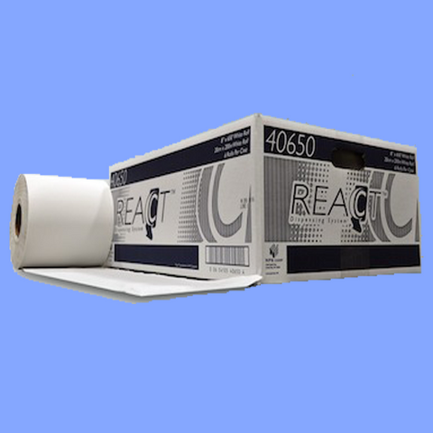 "40650 - WHITE ROLL TOWELS FOR REACT<sup>&trade;</sup> DISPENSER - 8"" X 650'"
