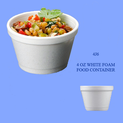 4J6 - 4 OZ WHITE FOAM CONTAINERS
