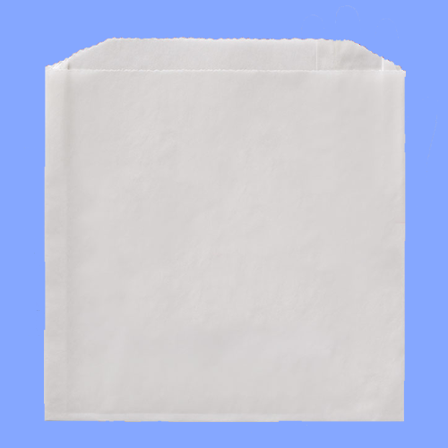"508 FISCHER - 6"" X 3/4"" X 6 1/2"" WHITE GREASE RESISTANT SANDWICH BAGS"