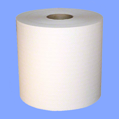 "7850W - 7 1/2"" X 800' WHITE ROLL TOWELS"