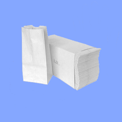 51045 - 5# - WHITE GROCERY BAGS