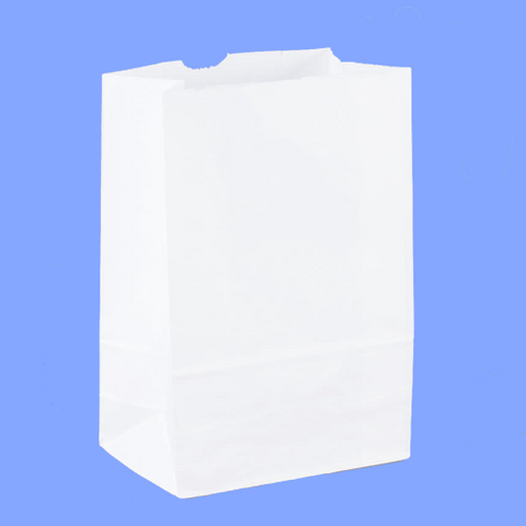 51028 - 8# - WHITE GROCERY BAGS