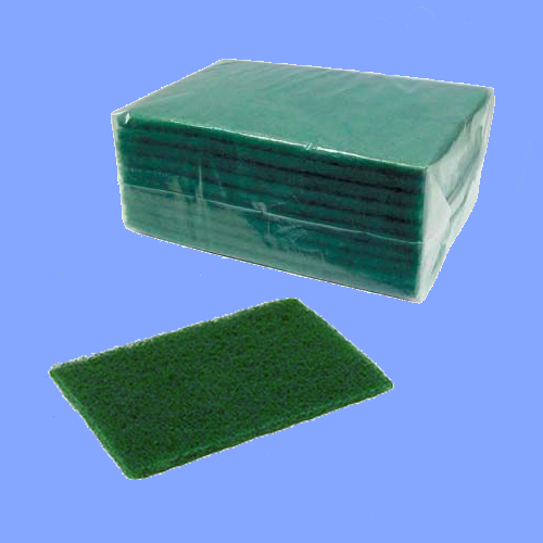 "86B - 6"" X 9"" GREEN HEAVY DUTY SCRUB PADS"