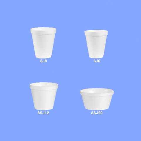 PC- 8J8 - 8 OZ WHITE FOAM CUPS