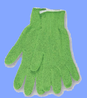 9512GL - REGULAR WEIGHT PASTEL GREEN STRING KNIT GLOVES