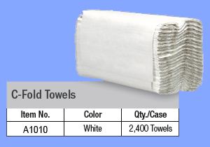 A1010 - WHITE C FOLD TOWELS
